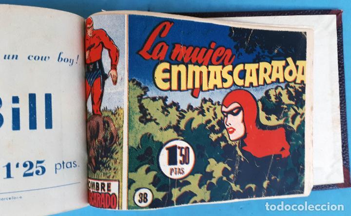 Tebeos: COLECCION EL HOMBRE ENMASCARADO , COMPLETA ,ENCUADERNADA , DEL 1 AL 38 ,HISPANO AMERICANA ,ORIGINAL - Foto 10 - 138045730