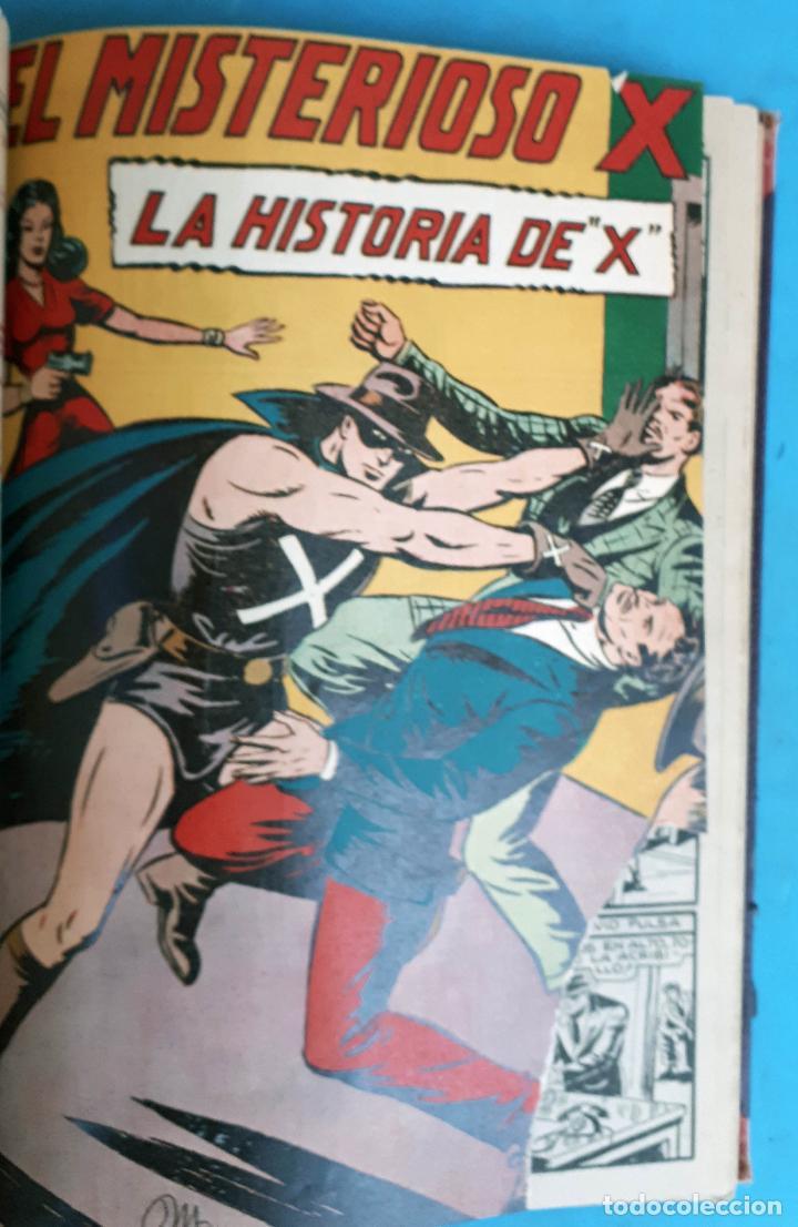 Tebeos: COLECCION EL MISTERIOSO X , COMPLETA , ENCUADERNADA , 1 AL 31 , EDITORIAL GARGA , ORIGINAL - Foto 5 - 138053530