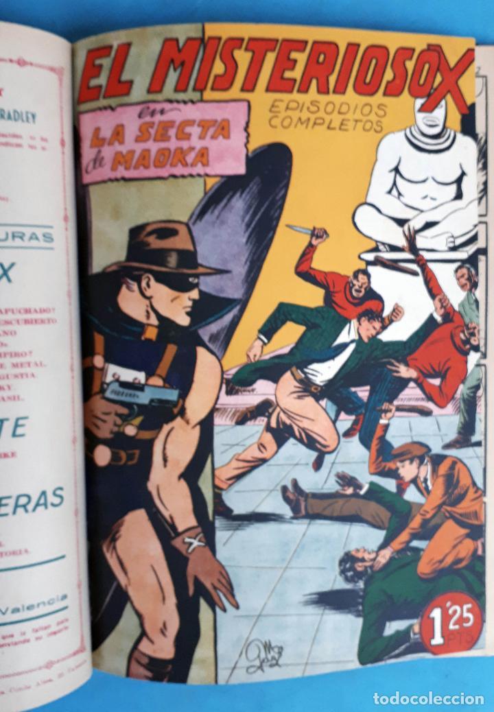 Tebeos: COLECCION EL MISTERIOSO X , COMPLETA , ENCUADERNADA , 1 AL 31 , EDITORIAL GARGA , ORIGINAL - Foto 8 - 138053530