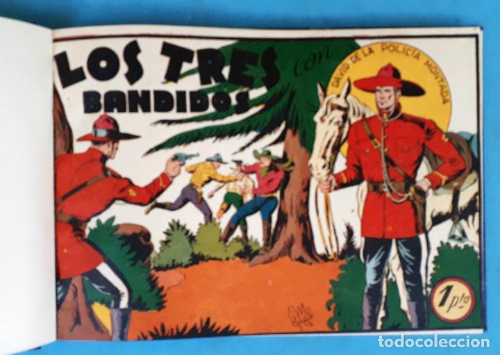 COLECCION DAVID DE LA POLICIA MONTADA , COMPLETA , ENCUADERNADA , 1 AL 16 , VALENCIANA , ORIGINAL (Tebeos y Comics - Tebeos Colecciones y Lotes Avanzados)