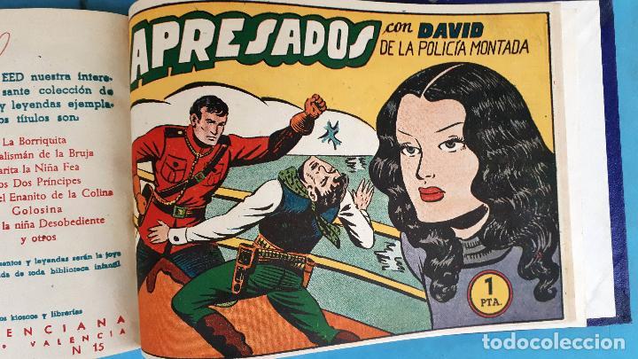 Tebeos: COLECCION DAVID DE LA POLICIA MONTADA , COMPLETA , ENCUADERNADA , 1 AL 16 , VALENCIANA , ORIGINAL - Foto 8 - 138054270