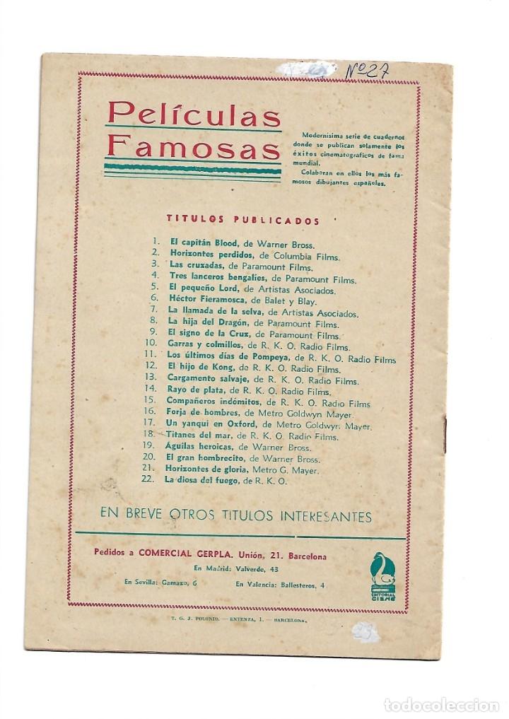 Tebeos: Peliculas Famosas, Año 1.944. Colección Completa son 33. Tebeos Originales Editorial Cliper. - Foto 47 - 138737574