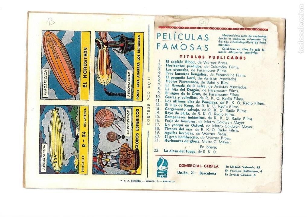 Tebeos: Peliculas Famosas, Año 1.944. Colección Completa son 33. Tebeos Originales Editorial Cliper. - Foto 43 - 138737574