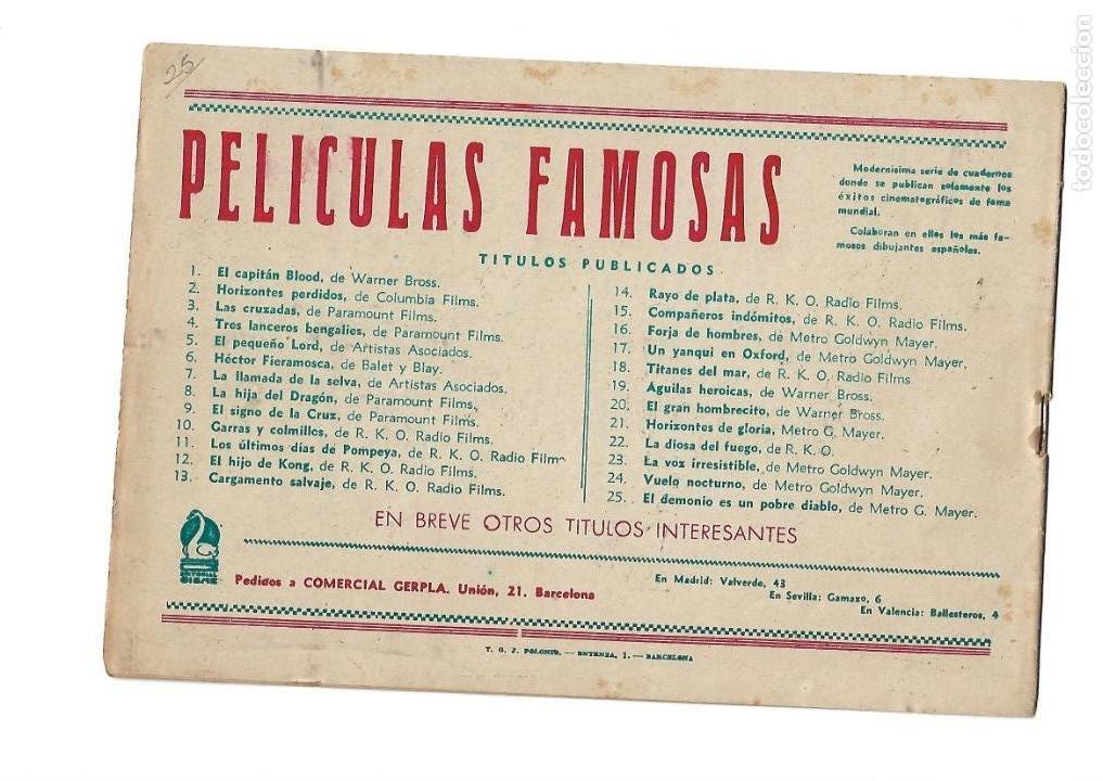 Tebeos: Peliculas Famosas, Año 1.944. Colección Completa son 33. Tebeos Originales Editorial Cliper. - Foto 51 - 138737574