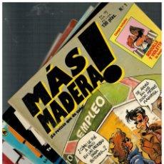 Livros de Banda Desenhada: MÁS MADERA! -LOTE DE 6 NºS.- 1,6,8,12,13 Y 15- BRUGUERA,1986. MUY BUENOS.. Lote 139082450