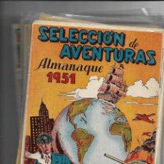 Tebeos: SELECCIÓN DE AVENTURAS, AÑO 1950. COLECCIÓN COMPLETA SON 19. TEBEOS CON EL ALMANAQUE SON ORIGINALES. Lote 139383194
