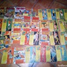 Tebeos: LOTE DE UNOS 35 NUMEROS DE CAN CAN INCLUYENDO NUMEROS BAJOS Y ALMANAQUE 1959. Lote 139414954