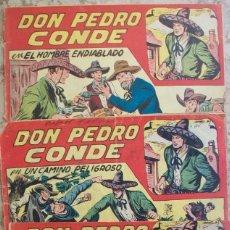 Tebeos: DON PEDRO CONDE (MAGA) LOTE DE 3 NUMEROS (DE ENCUADERNACION). Lote 140505142
