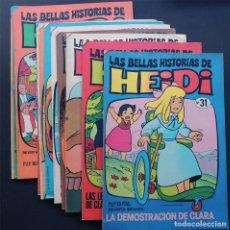 Tebeos: LAS BELLAS HISTORIAS DE HEIDI / LOTE DE 14 NUMEROS DIFERENTES / SIN USAR / BRUGUERA. Lote 141833598