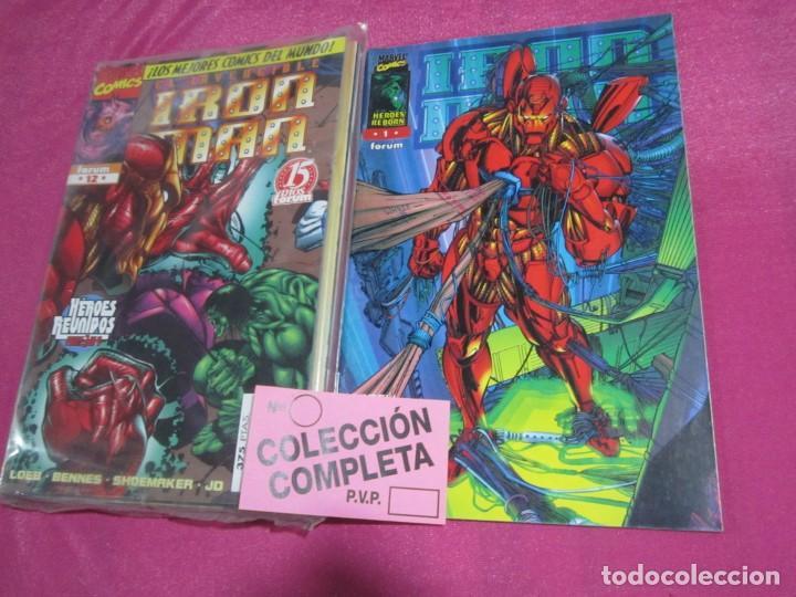 IRON MAN HEROES REBORN 12 COMPLETA . FORUM. EXCELENTE ESTADO. (Tebeos y Comics - Tebeos Colecciones y Lotes Avanzados)