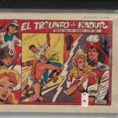 Tebeos: EL AMULETO VERDE, AÑO 1956. COLECCIÓN COMPLETA SON 24. TEBEOS ORIGINALES NUEVOS. DIBUJANTE M. ALONSO. Lote 142706622