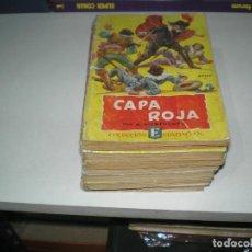 Tebeos: LOTE DE NOVELAS DE CAPA ROJA. Lote 143156662