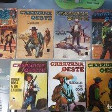 Tebeos: COMICS CARAVANA OESTE (1971) - VILMAR EDICIONES, 7 COMICS. Lote 143790370