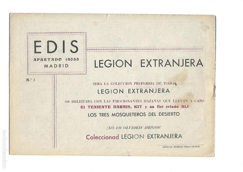 Tebeos: Legión Extranjera, Año 1954 Colección Completa son 22 Tebeos Originales + Almanaque del 1954 dificil - Foto 3 - 146353058