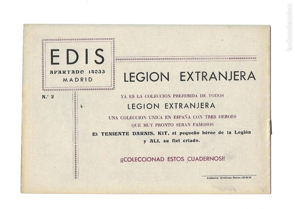 Tebeos: Legión Extranjera, Año 1954 Colección Completa son 22 Tebeos Originales + Almanaque del 1954 dificil - Foto 5 - 146353058