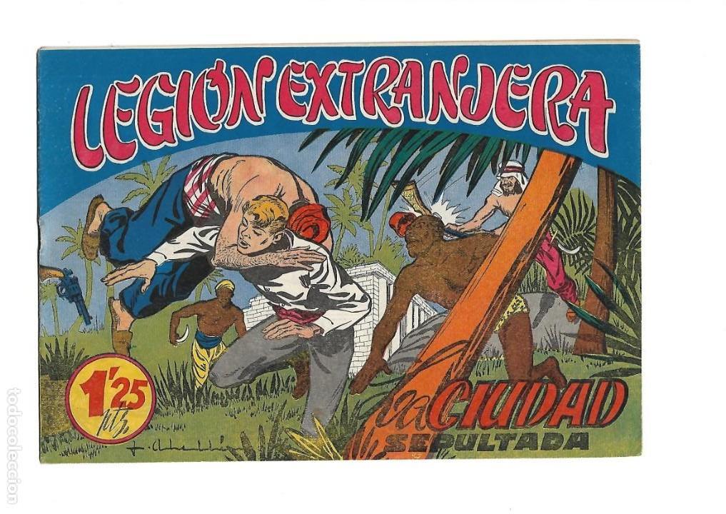 Tebeos: Legión Extranjera, Año 1954 Colección Completa son 22 Tebeos Originales + Almanaque del 1954 dificil - Foto 18 - 146353058
