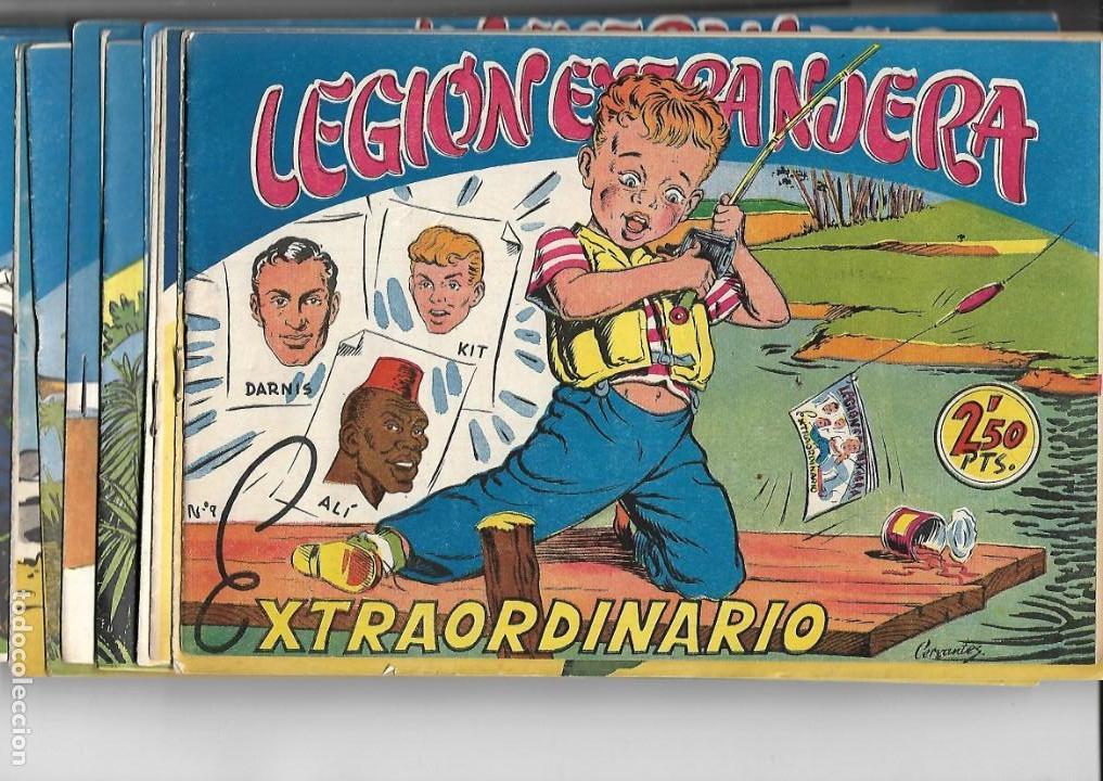 LEGIÓN EXTRANJERA, AÑO 1954 COLECCIÓN COMPLETA SON 22 TEBEOS ORIGINALES + ALMANAQUE DEL 1954 DIFICIL (Tebeos y Comics - Tebeos Colecciones y Lotes Avanzados)