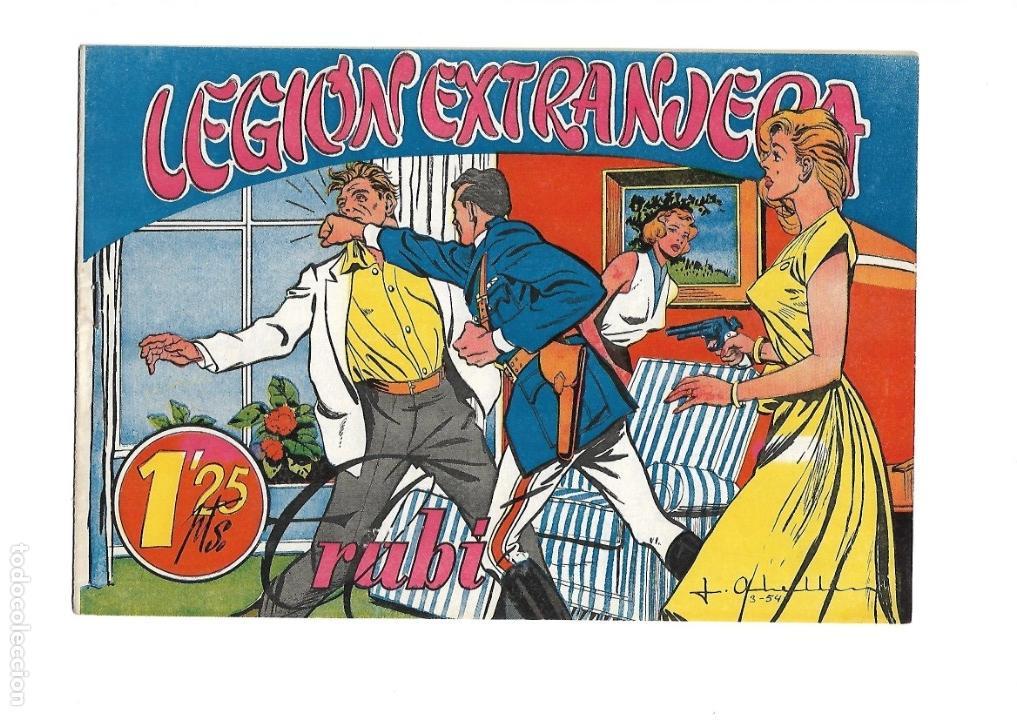 Tebeos: Legión Extranjera, Año 1954 Colección Completa son 22 Tebeos Originales + Almanaque del 1954 dificil - Foto 26 - 146353058