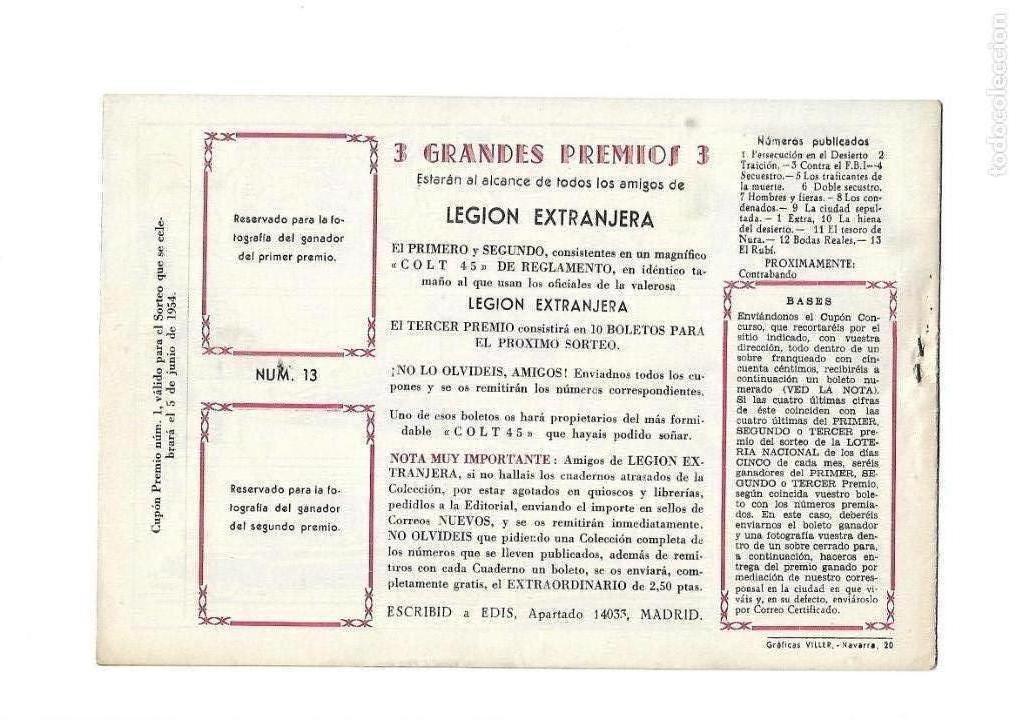 Tebeos: Legión Extranjera, Año 1954 Colección Completa son 22 Tebeos Originales + Almanaque del 1954 dificil - Foto 27 - 146353058