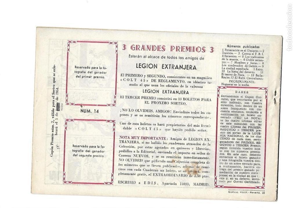 Tebeos: Legión Extranjera, Año 1954 Colección Completa son 22 Tebeos Originales + Almanaque del 1954 dificil - Foto 29 - 146353058