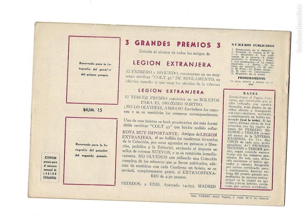 Tebeos: Legión Extranjera, Año 1954 Colección Completa son 22 Tebeos Originales + Almanaque del 1954 dificil - Foto 31 - 146353058