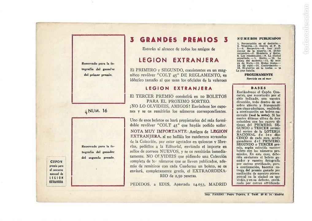 Tebeos: Legión Extranjera, Año 1954 Colección Completa son 22 Tebeos Originales + Almanaque del 1954 dificil - Foto 33 - 146353058