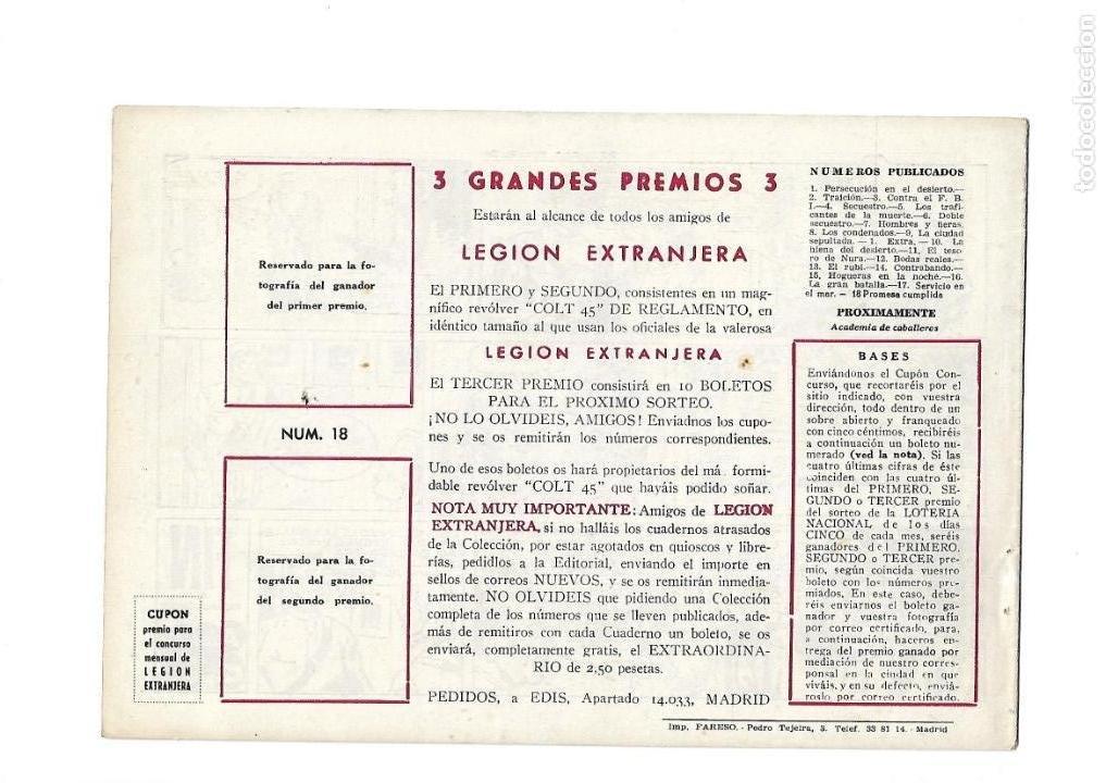 Tebeos: Legión Extranjera, Año 1954 Colección Completa son 22 Tebeos Originales + Almanaque del 1954 dificil - Foto 37 - 146353058
