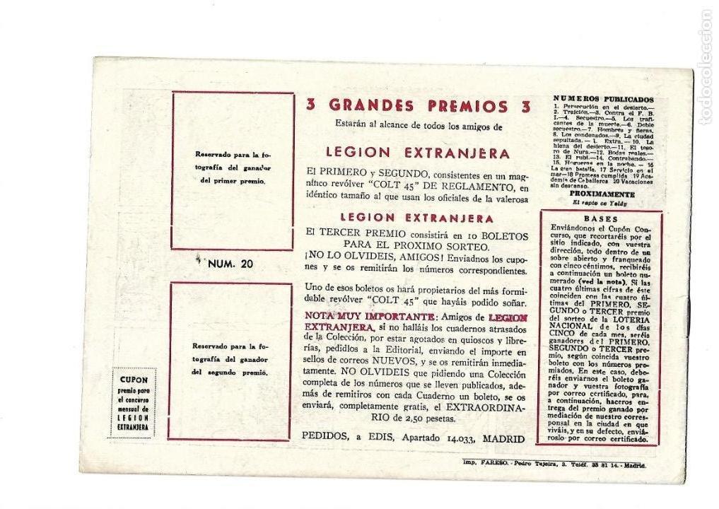 Tebeos: Legión Extranjera, Año 1954 Colección Completa son 22 Tebeos Originales + Almanaque del 1954 dificil - Foto 41 - 146353058