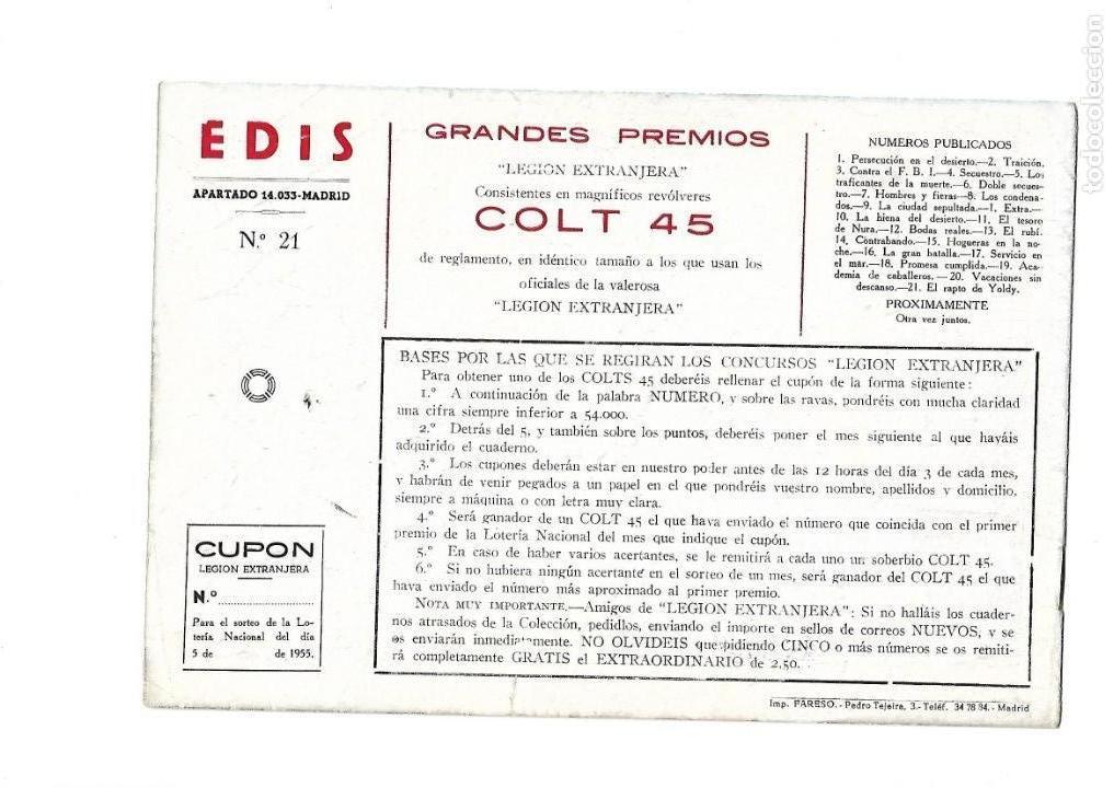 Tebeos: Legión Extranjera, Año 1954 Colección Completa son 22 Tebeos Originales + Almanaque del 1954 dificil - Foto 43 - 146353058