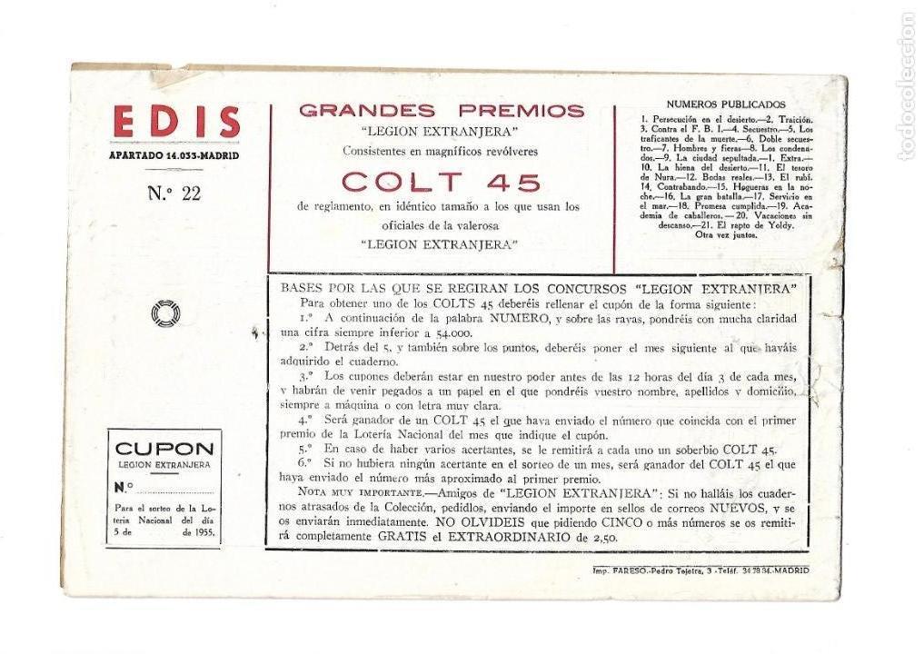 Tebeos: Legión Extranjera, Año 1954 Colección Completa son 22 Tebeos Originales + Almanaque del 1954 dificil - Foto 45 - 146353058