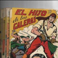 Tebeos: EL HIJO DE LAS GALERAS AÑO 1950 COLECCIÓN COMPLETA SON 16 TEBEOS ORIGINALES MUY NUEVOS DE M. GAGO. Lote 146563814
