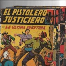 Tebeos: EL PISTOLERO JUSTICIERO, AÑO 1951 COLECCIÓN COMPLETA SON 12 TEBEOS ORIGINALES DE MANUEL GAGO. Lote 146613258