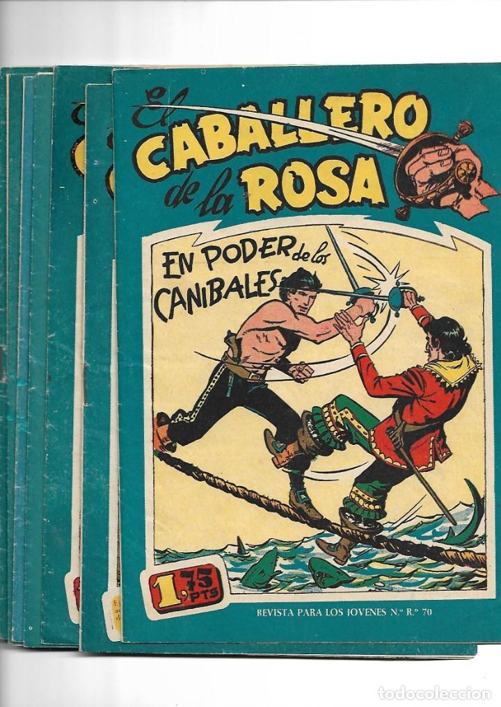 EL CABALLERO DE LA ROSA, AÑO 1958 COLECCIÓN COMPLETA SON 7 TEBEOS ORIGINALES QUE ESTAN SUPERNUEVOS (Tebeos y Comics - Tebeos Colecciones y Lotes Avanzados)