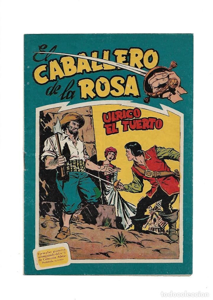 Tebeos: El Caballero de la Rosa, Año 1958 Colección Completa son 7 Tebeos Originales que estan Supernuevos - Foto 2 - 146709562