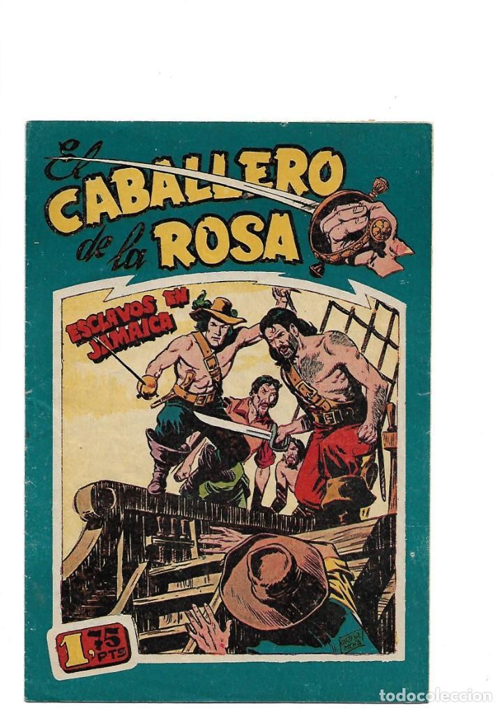 Tebeos: El Caballero de la Rosa, Año 1958 Colección Completa son 7 Tebeos Originales que estan Supernuevos - Foto 4 - 146709562