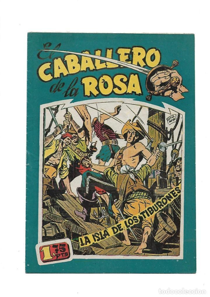 Tebeos: El Caballero de la Rosa, Año 1958 Colección Completa son 7 Tebeos Originales que estan Supernuevos - Foto 6 - 146709562