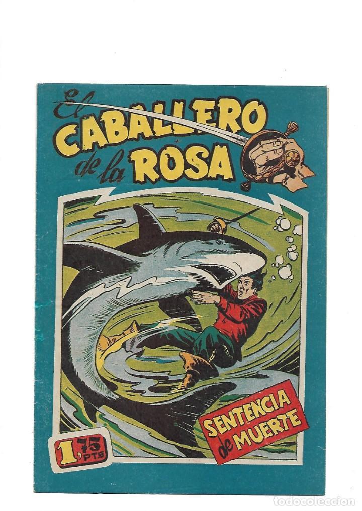 Tebeos: El Caballero de la Rosa, Año 1958 Colección Completa son 7 Tebeos Originales que estan Supernuevos - Foto 8 - 146709562