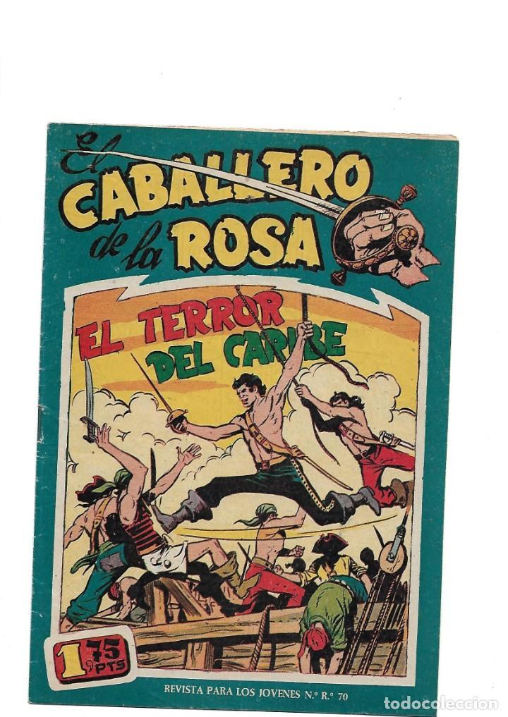 Tebeos: El Caballero de la Rosa, Año 1958 Colección Completa son 7 Tebeos Originales que estan Supernuevos - Foto 12 - 146709562