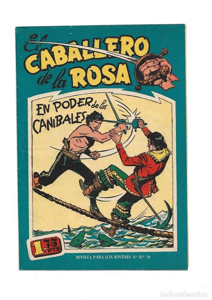 Tebeos: El Caballero de la Rosa, Año 1958 Colección Completa son 7 Tebeos Originales que estan Supernuevos - Foto 14 - 146709562