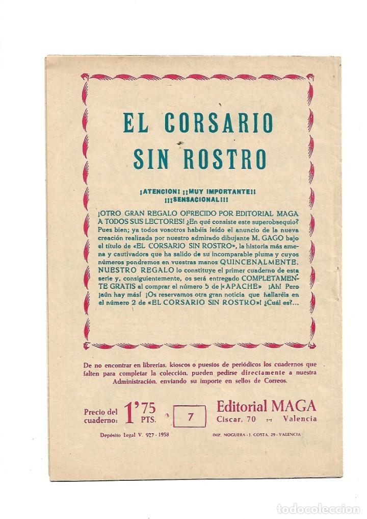 Tebeos: El Caballero de la Rosa, Año 1958 Colección Completa son 7 Tebeos Originales que estan Supernuevos - Foto 15 - 146709562
