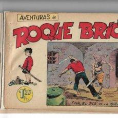 Tebeos: ROQUE BRIO, AÑO 1956 COLECCIÓN COMPLETA SON 8 TEBEOS ORIGINALES + ALMANAQUE DEL AÑO 1957. Lote 146829378