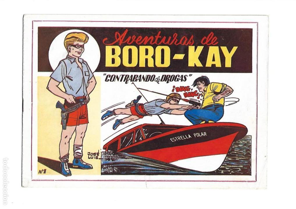 Tebeos: Aventuras de Boro-Kay, Año 1956 Colección Completa son 8. Tebeos Originales dibujos de José Luis - Foto 2 - 146915522