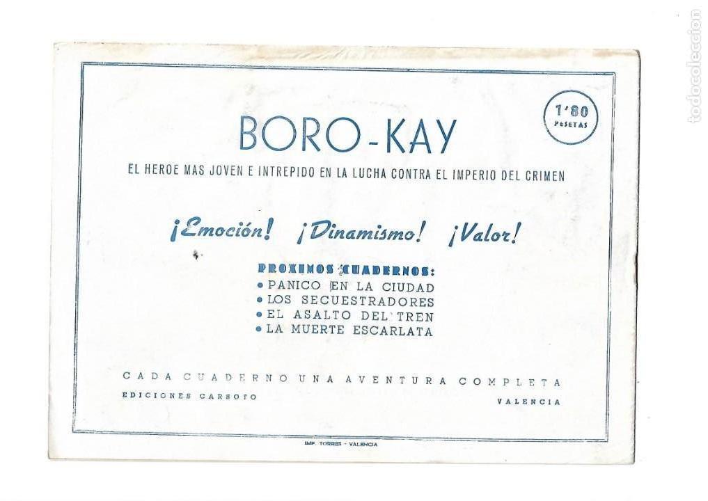 Tebeos: Aventuras de Boro-Kay, Año 1956 Colección Completa son 8. Tebeos Originales dibujos de José Luis - Foto 3 - 146915522