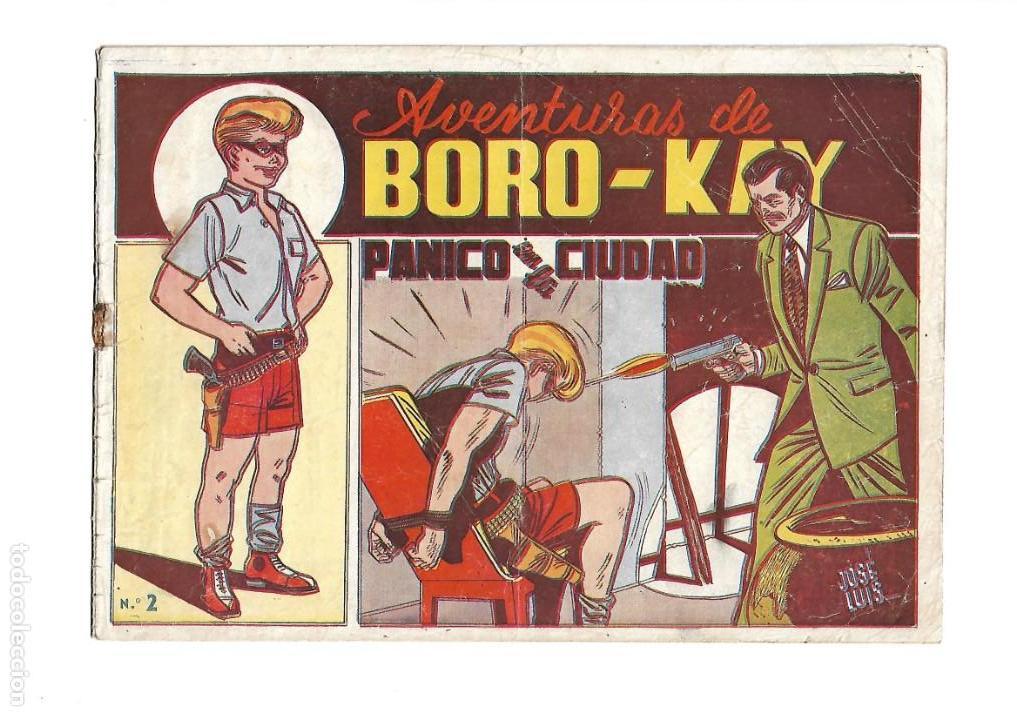Tebeos: Aventuras de Boro-Kay, Año 1956 Colección Completa son 8. Tebeos Originales dibujos de José Luis - Foto 4 - 146915522