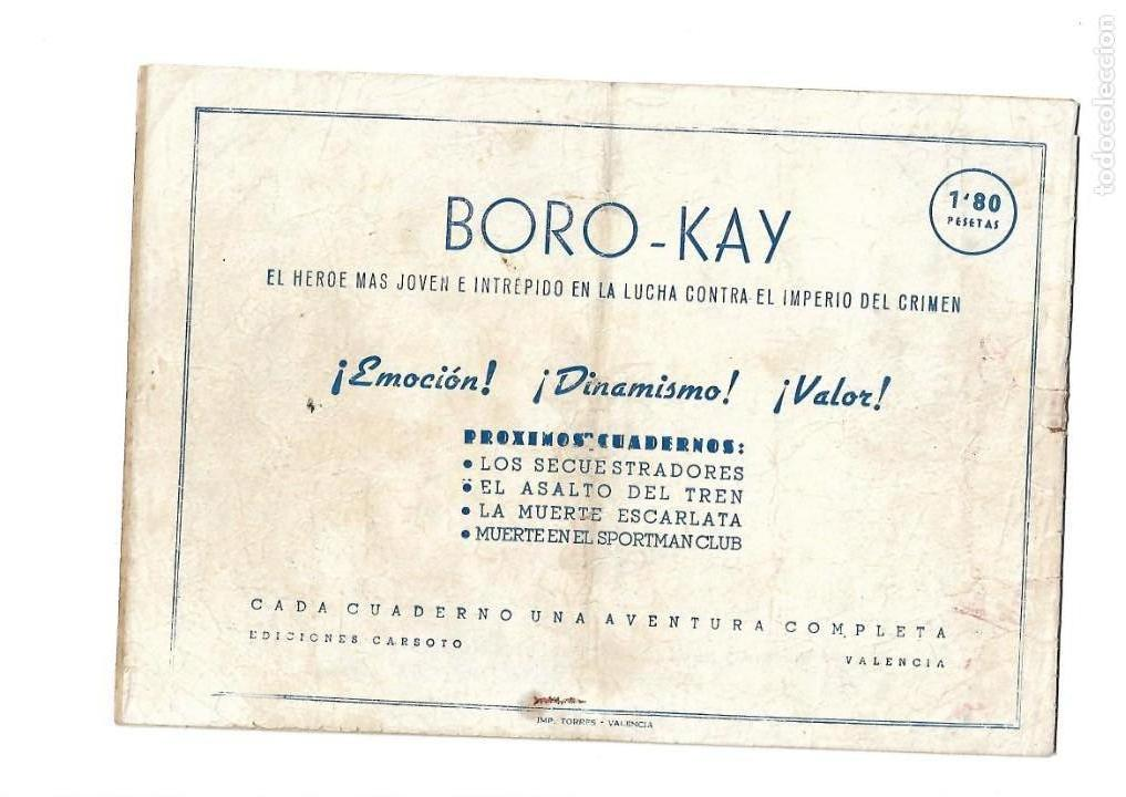 Tebeos: Aventuras de Boro-Kay, Año 1956 Colección Completa son 8. Tebeos Originales dibujos de José Luis - Foto 5 - 146915522
