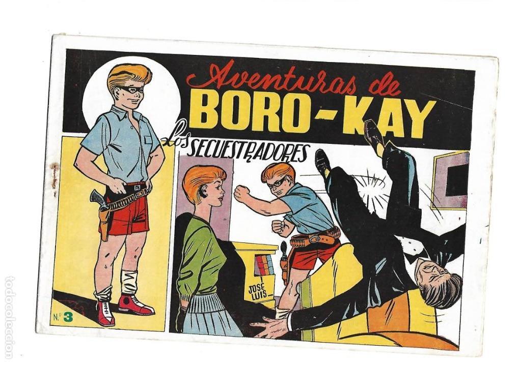 Tebeos: Aventuras de Boro-Kay, Año 1956 Colección Completa son 8. Tebeos Originales dibujos de José Luis - Foto 6 - 146915522