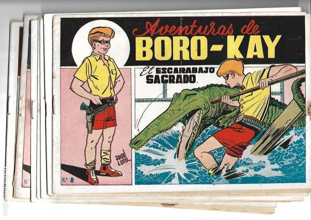 AVENTURAS DE BORO-KAY, AÑO 1956 COLECCIÓN COMPLETA SON 8. TEBEOS ORIGINALES DIBUJOS DE JOSÉ LUIS (Tebeos y Comics - Tebeos Colecciones y Lotes Avanzados)