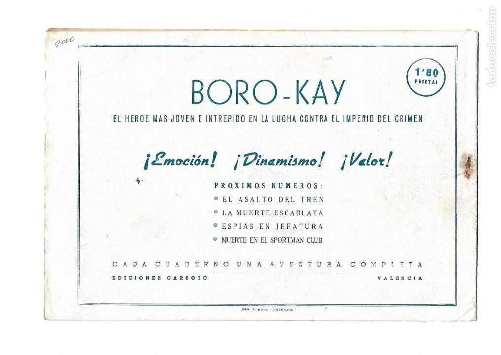 Tebeos: Aventuras de Boro-Kay, Año 1956 Colección Completa son 8. Tebeos Originales dibujos de José Luis - Foto 7 - 146915522