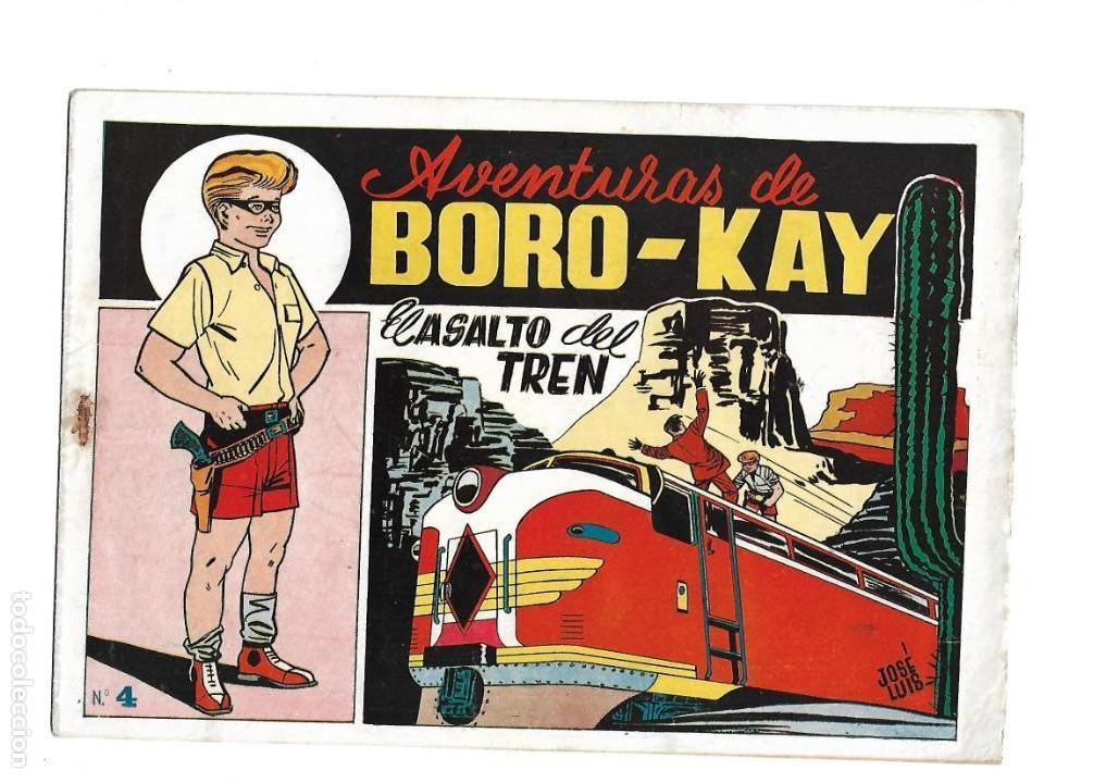 Tebeos: Aventuras de Boro-Kay, Año 1956 Colección Completa son 8. Tebeos Originales dibujos de José Luis - Foto 8 - 146915522