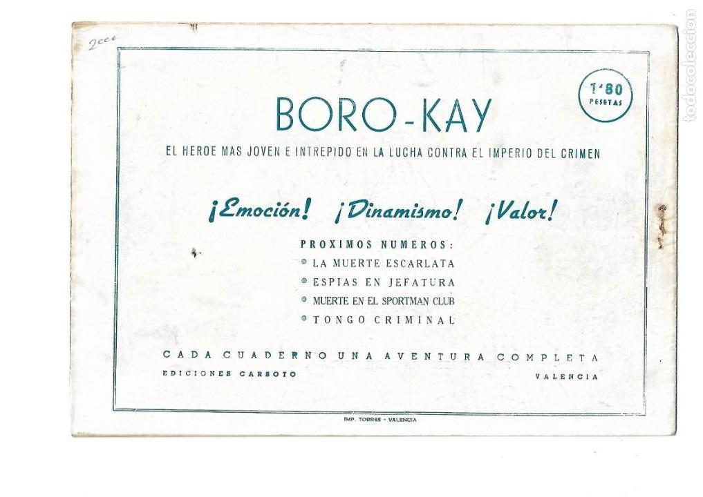 Tebeos: Aventuras de Boro-Kay, Año 1956 Colección Completa son 8. Tebeos Originales dibujos de José Luis - Foto 9 - 146915522